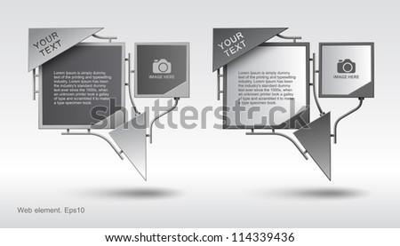 Web element design, vector, website - stock vector