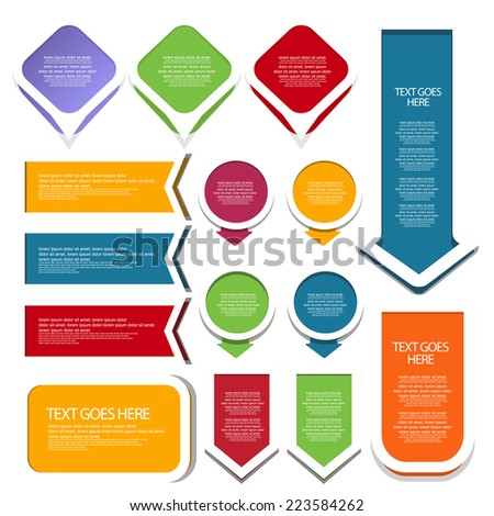 Web element set. vector - stock vector