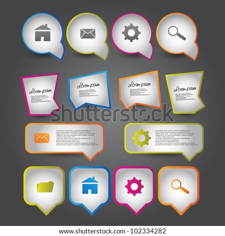 web elements colection - stock vector