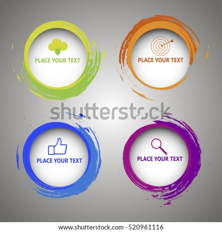 Web elements. 3d circular options for infographic. Vector Modern Creative and Business Template