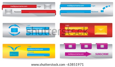 Web elements for your website - stock vector