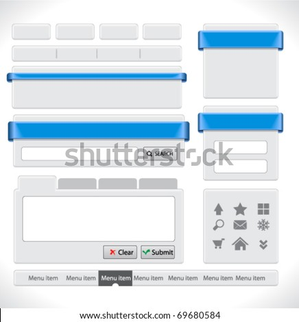 Web elements pack - stock vector