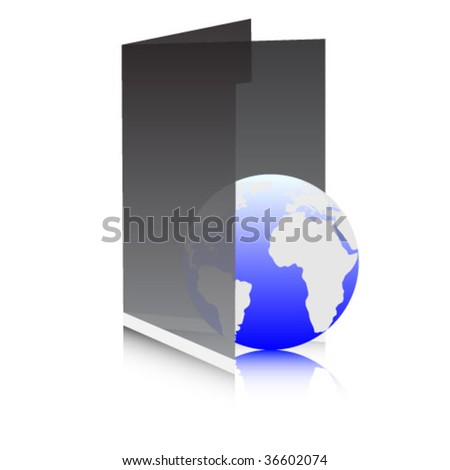 web folder - stock vector