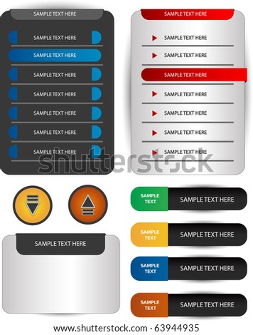 web forms and navigations - stock vector
