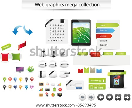 Web gaphics mega collection - stock vector