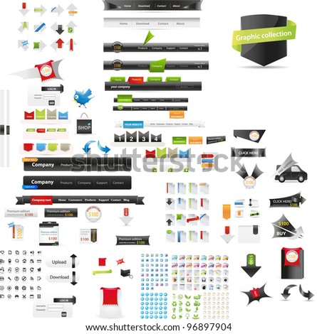 Web graphic collection - stock vector