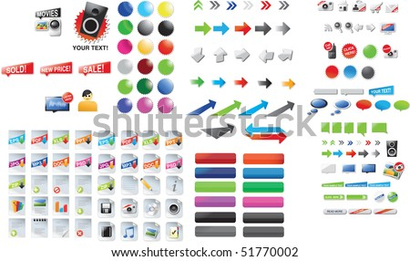 Web graphics - stock vector