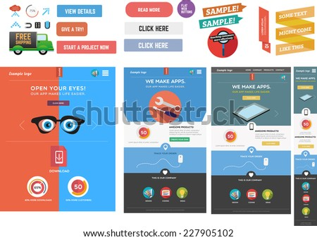 Web graphics and web templates - stock vector