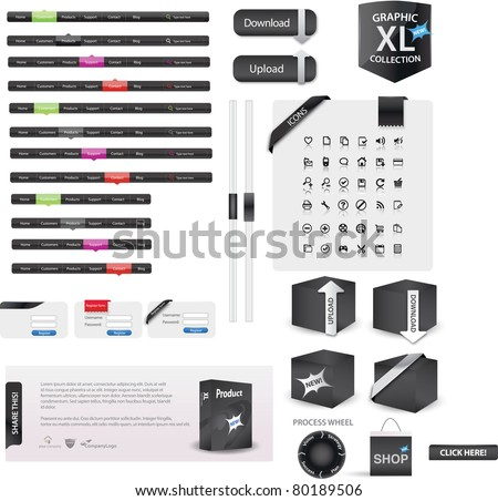 Web graphics XL edition - stock vector