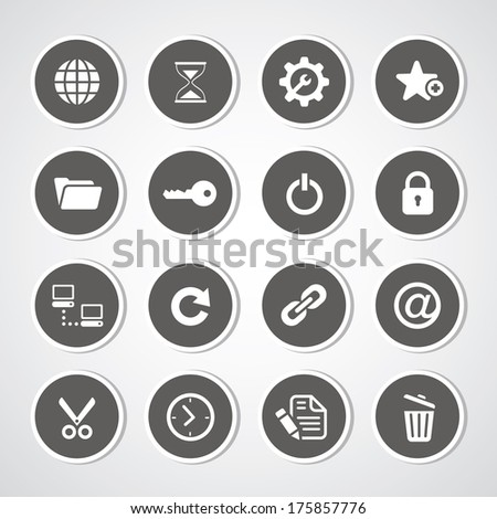 Web hosting icons for use  - stock vector