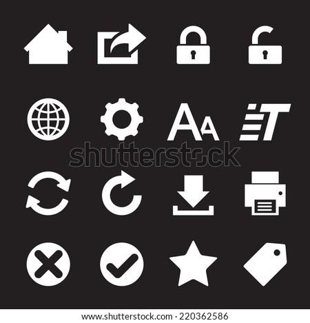 web icon - stock vector