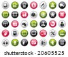 Web Icon Buttons Collection. Audio and Video Color Set. - stock vector