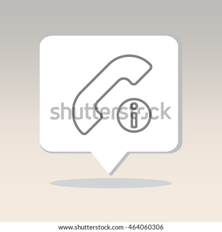 Web icon. Information call, Information about calls