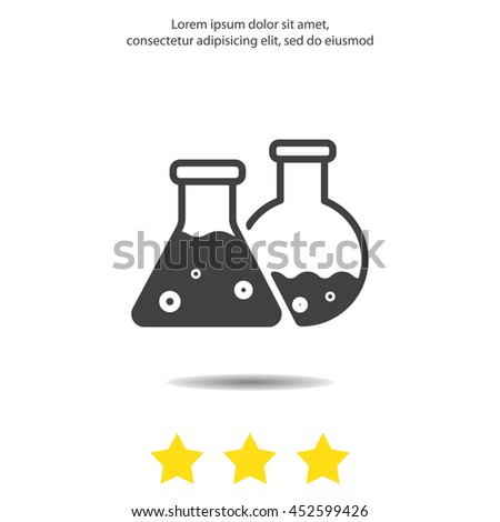 Web icon. Laboratory flasks - stock vector