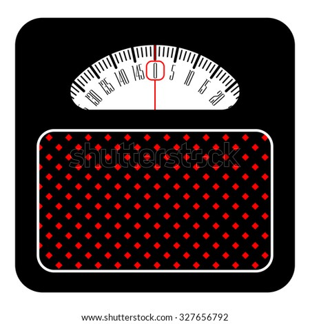 Web icon of scales, weighing, weight, balance on a white background