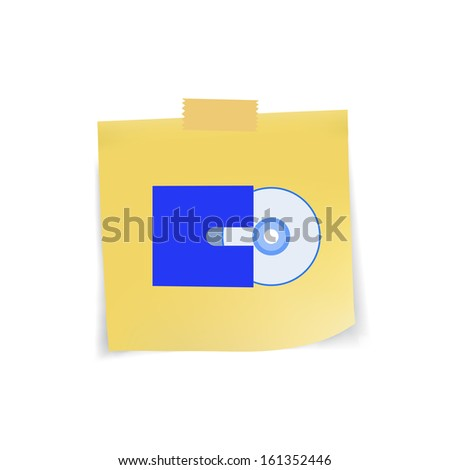 Web icon on note pad paper,vector