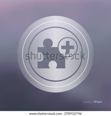 Web icon on the blurred background. Add Symbol.  Vector illustration - stock vector
