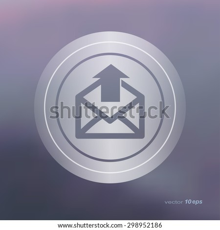 Web icon on the blurred background.  Email symbol.  Vector illustration - stock vector