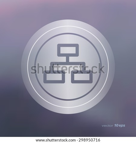 Web icon on the blurred background. Graph symbol. Vector illustration - stock vector