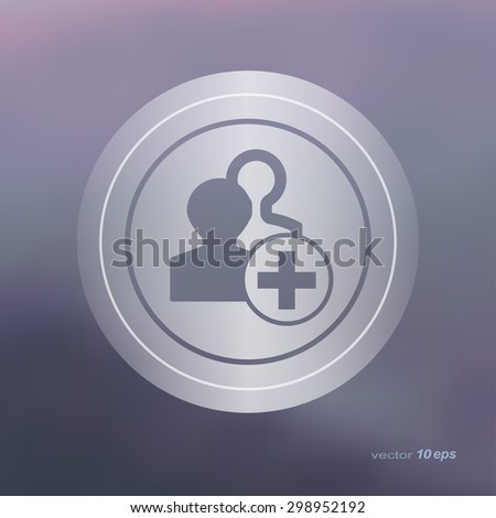 Web icon on the blurred background. New group symbol.  Vector illustration - stock vector
