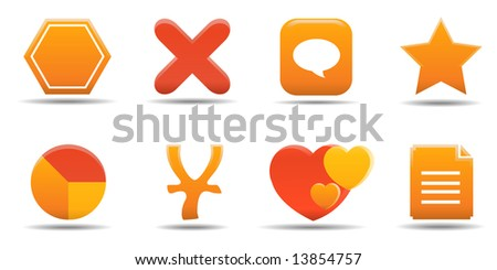 Web icon set 7 | Pumpkin series - stock vector