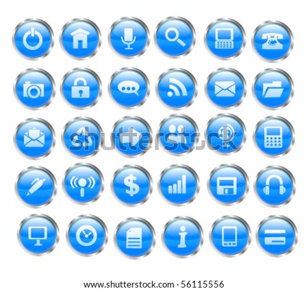 Web icon set. Vector