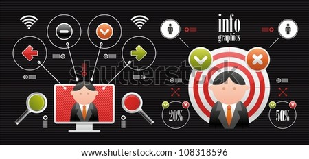 web icons and infographics - stock vector