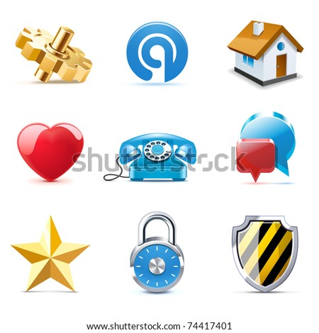 Web icons | Bella series - stock vector