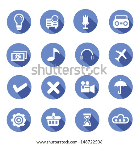 Web icons,Blue version,vector - stock vector