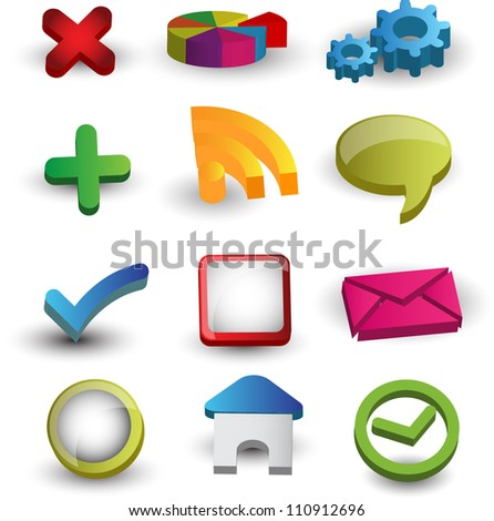 web icons/buttons - stock vector
