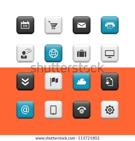 Web icons. Buttons - stock vector
