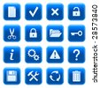 Web icons, buttons. Blue series 4 - stock vector