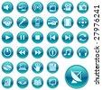 Web icons, buttons. Round series 3 - stock vector