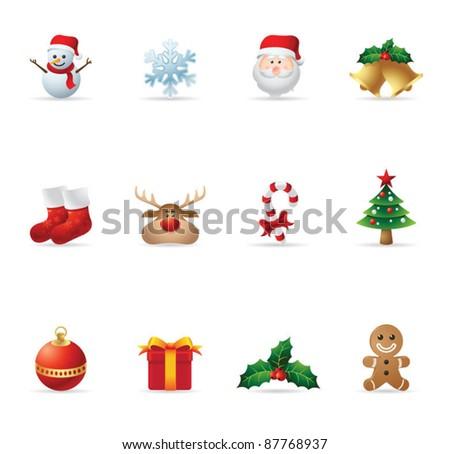 Web Icons - Christmas - stock vector