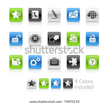 Web 2.0 icons // Clean Series -------It includes 4 color versions for each icon in different layers --------- - stock vector