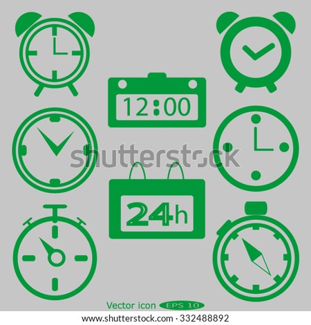 Web icons  - clock, time - stock vector