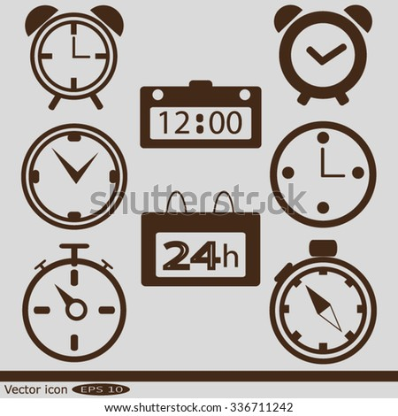 Web icons - clock, time