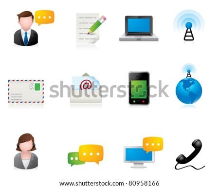 Web Icons - Communication - stock vector