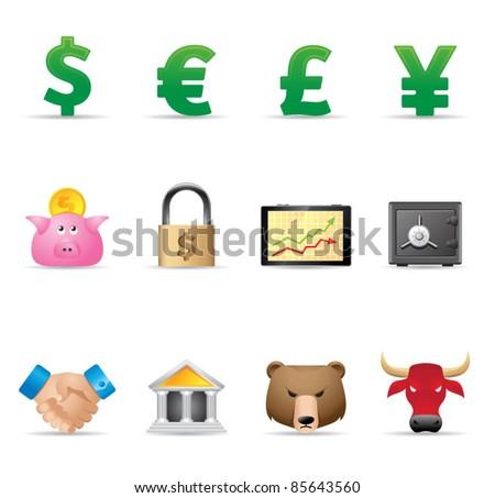 Web Icons - Finance - stock vector