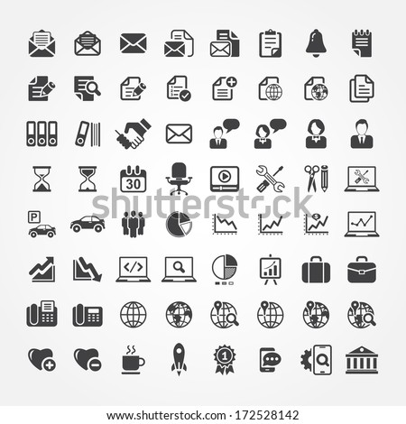 Web icons for business, finance and communication - stock vector