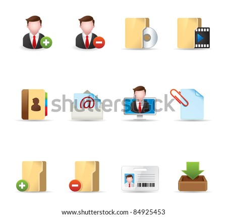 Web Icons - Group collaboration - stock vector