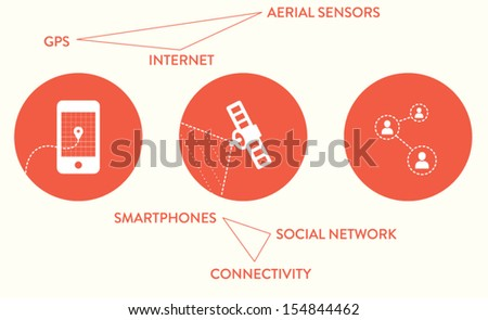 Web icons, infographic  - stock vector