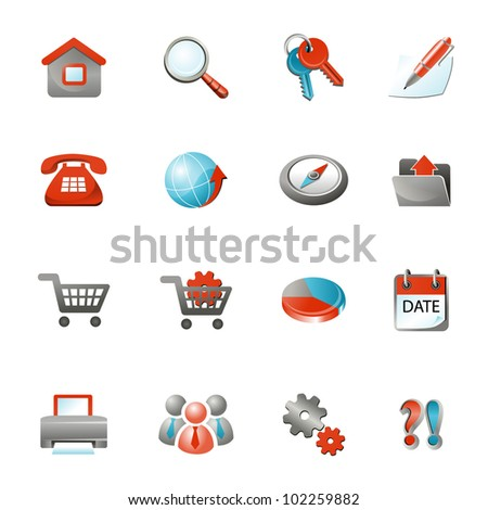 Web Icons, Internet & Website icons, office & universal icons, icons Set, web buttons - Vector