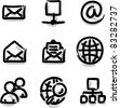 Web icons marker contour internet - stock vector