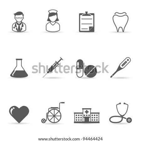 Web Icons - Medical - stock vector