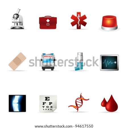 Web Icons - More Medical - stock vector