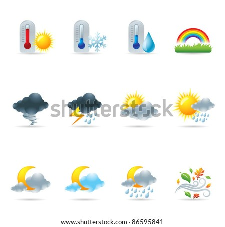 Web Icons - More Weather - stock vector