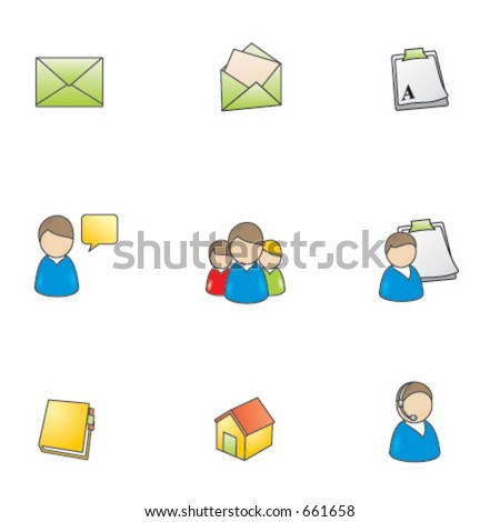 Web icons, navigation - stock vector