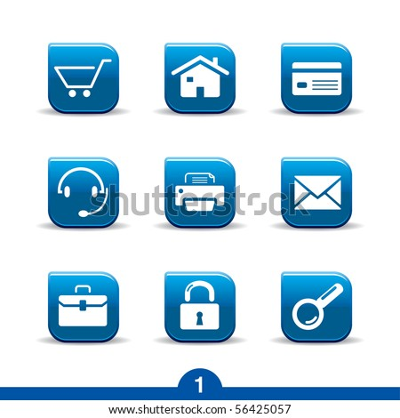 web icons no.1..smooth series - stock vector