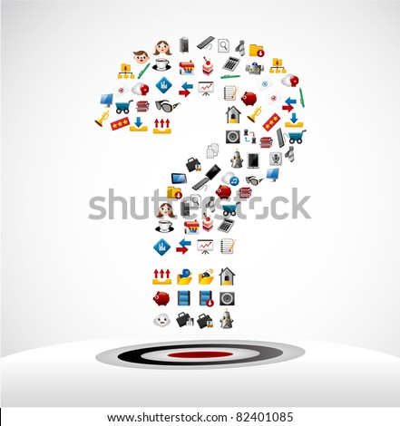 Web icons Question mark card - stock vector